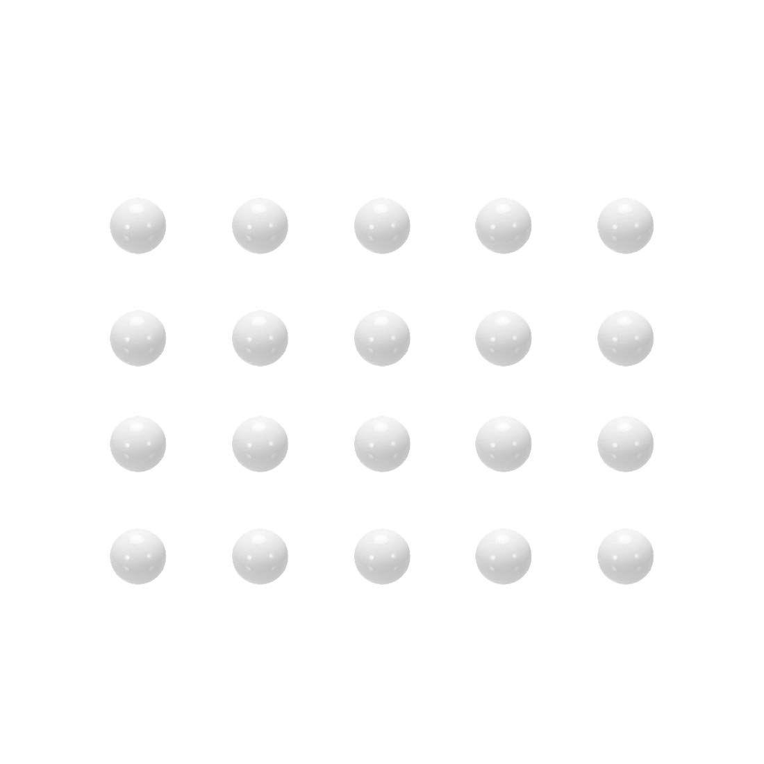 Sourcingmap Metric POM - Bolas de plástico para hacer anillos de moneda, 4.5mm 100Qty, 1