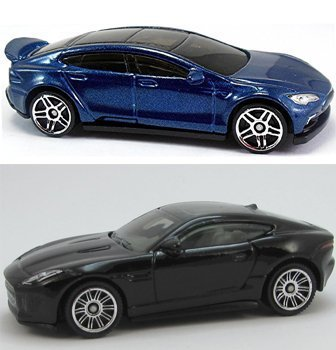Jaguar Matchbox & Tesla Model S Set Hot Wheels #241 2016 HW Green Speed + Jaguar New Model F-Type Coupe PROTECTIVE CASES