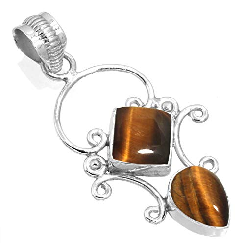 Silver Tiger Eye Necklace - 3