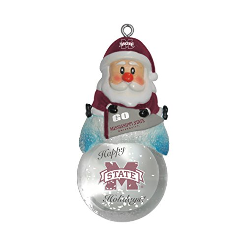 Boelter Brands NCAA Mississippi State Bulldogs Snow Globe Ornament