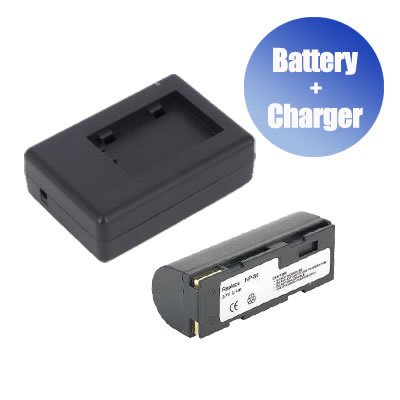 igital Camera Battery + Charger Replacement for Toshiba PDR-BTI (1400 mAh) ()