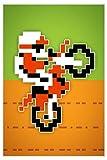 Wheelie 8-bit Video Game Art Print 24 x 36in