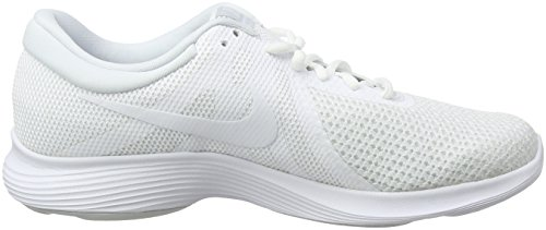 Nike Men's Revolution 4 EU Running Shoes, Black (Black), 7 Multicolour (White/White-pure Platinum 100)