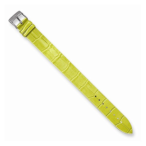 Alligator Texture Patent Finish - Best Birthday Gift Moog Lime Alligator Texture Patent Finish Calf Leather Watch Band