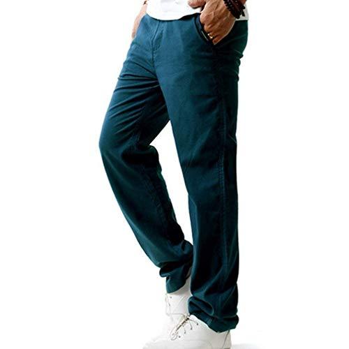 Deportivos Con Moda Otoño De Los Casuales Dunkelblau Sueltos Hombres Ocasional Sólido La Battercake Chándal Cómodo Color Pantalones gq5TAA