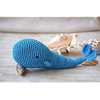 Amigurumi Crochet toy Whale Baby rattle