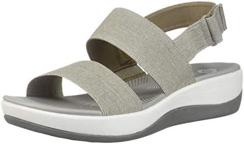 big selection multiple colors better Clarks Women's Arla Jacory Wedge Sandal, Sand, 5 M US ...