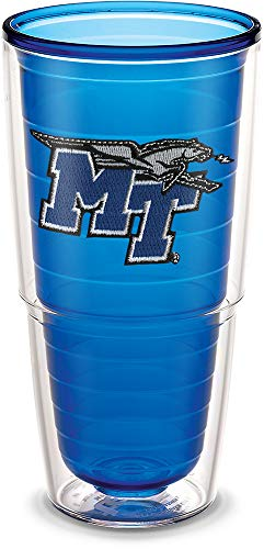 Tervis 1194650 Middle Tennessee State University Emblem Individual Tumbler, 24 oz, ()