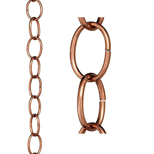 Good Directions Small Single Link Pure Copper 8.5-Foot Rain Chain by Good Directions