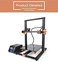 TEVO Tornado 3D Printer, 2018 est Model 95% Assembled with Full Aluminum Frame Larger Printing Size Upgraded Nozzle & Heatbed for PLA, ABS, TPU, Copper, Wood, and Flexible Filaments, 300x300x400mm by TEVO