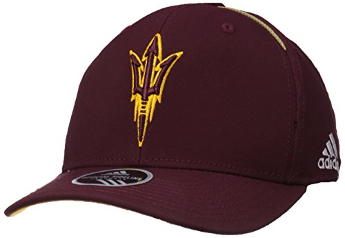 NCAA Arizona State Sun Devils Adult Men Coach's Structured Flex, Small/Medium, Maroon (Arizona State Sun Devils Visor)