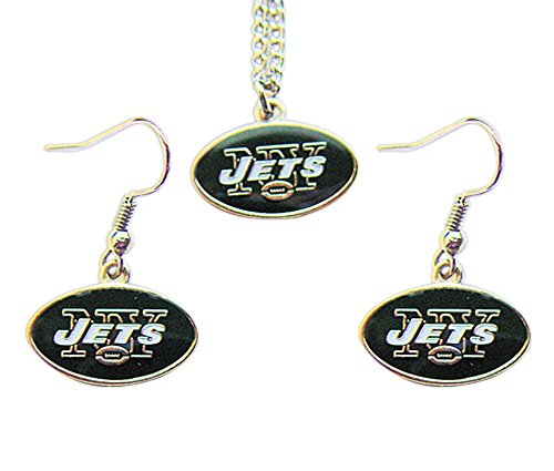 - New York Jets Necklace and Dangle Earring Charm Set [Misc.]