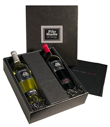 Fifty Shades of Grey Wine w/ Gift Wrapped Black Box Included, 2 x 750 ml Wine