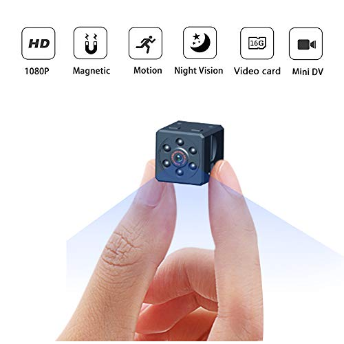 Mini Hidden Spy Camera, 1080P Portable Wireless Nanny Cam with Night Vision and Motion Detection, Covert Security Camera for Home and Office