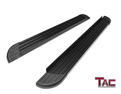 TAC Running Boards for 2006-2018 Toyota RAV4 Value Aluminum SUV Black Side Steps Nerf Bars (Excl. 2018 Adventure Trim) Step Rails Running Boards Off Road Automotive Exterior Accessories (2 Pieces)