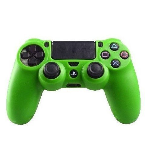 Goliton? 2X Silicone rubber soft case Gel skin cover for Sony PlayStation 4 PS4 Controller - Green by Goliton