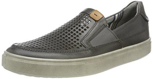 (ECCO Men's Kyle Perforated Slip on Fashion Sneaker,titanium,46 EU/12-12.5 M)