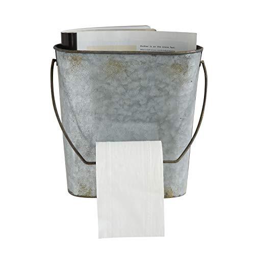 (Creative Co-op Magazine & Toilet Paper Wall Tin Bucket)