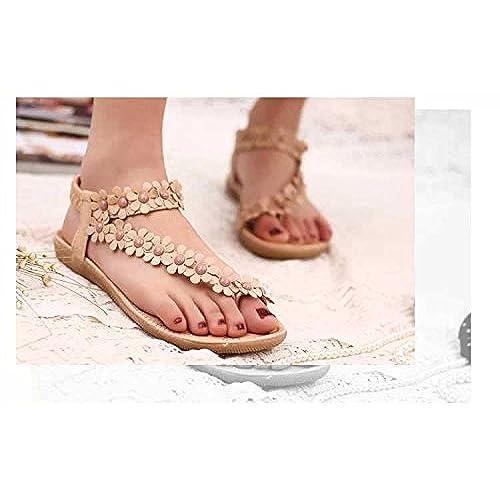 hot sale Gaorui Women Beach Bohemia Sandals Slingback Ankle