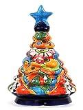 Ceramic Talavera Christmas Trees, Hand Made in Mexico (Blue 2)