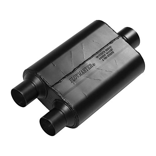 Flowmaster 425403 Inlet Outlet Exhaust 40 Series Muffler-2.50 Dual in / 3.00 Center Out-Aggressive ()