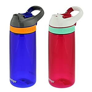 Contigo Autoseal Courtney Kids Water Bottle, 20oz, Sapphire & Sangria (2 Pack)