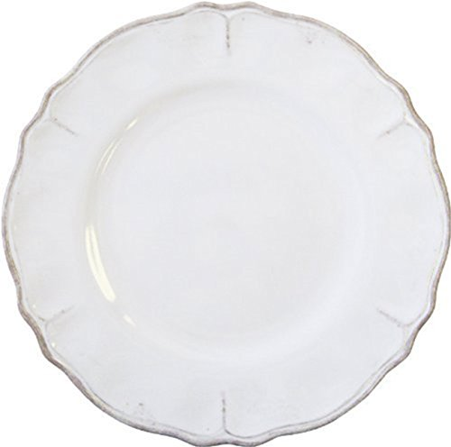 Le Cadeaux Rustica Antique White Melamine Dinner Plate - Set of 4