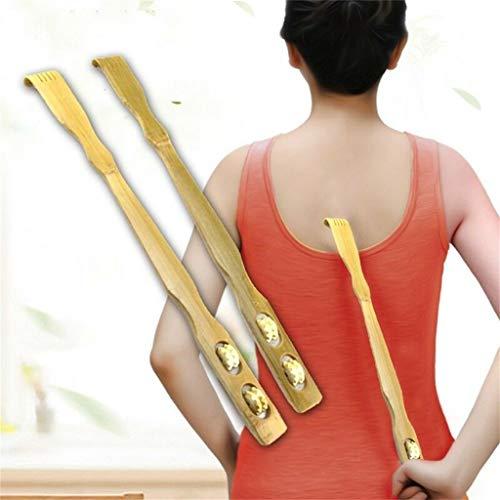 LtrottedJ Bamboo Itch, Nature Wooden Back Wood Back Scraper Scratching Massager Body Massage