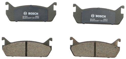 - Bosch BP458 QuietCast Premium Semi-Metallic Disc Brake Pad Set For Ford: 1991-1996 Escort; Mazda: 1990-1991 323, 1990-1993 Miata, 1990-1994 Protege; Mercury: 1991-1996 Tracer; Rear