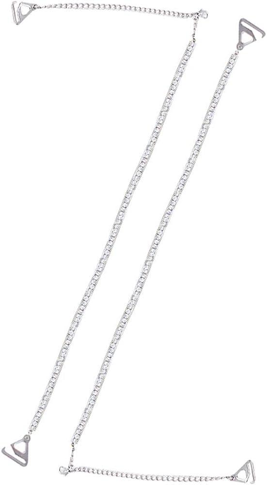 GOWE Spalline per Reggiseno Donna Lingerie Accessori con Strass di Cristallo Decorazioni Nozze Cinghie del Reggiseno Staccabili per Abiti Tops