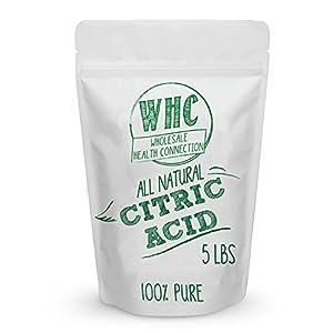 WHC Food Grade Citric Acid Powder (5 Lbs)   Non GMO