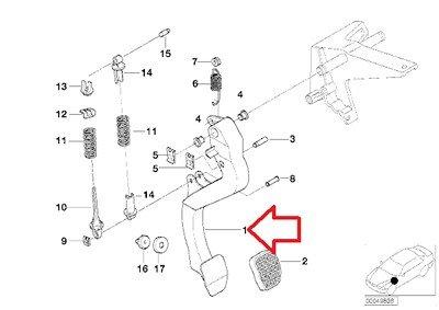 BMW Genuine Clutch Pedal for 318i 318is 318ti 320i 323i 325i 325is 328i M3 M3 3.2 Z3 1.9 Z3 2.5 Z3 2.5i Z3 2.8 Z3 3.0i Z3 M3.2