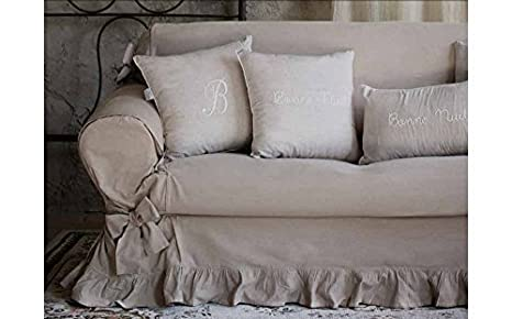Blanc Mariclo sofá Shabby Chic 2 plazas Color Blanco: Amazon ...