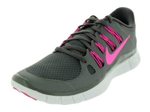 nike free run 5.0 grey and pink