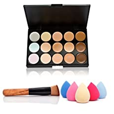 Introductions:This 15 color Concealer & Multi-Function Oblique Head Powder Brush is cost-effective and practical, which is an optimal choice. Made of high quality ingredients, this blemish cover  can decorate the spot and blackhead immediately. ...