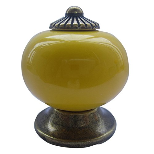 Tangpan 30mm Ceramic Handle Pull Knobs Cabinet Door Cupboard Drawer Locker Vintage Retro Gold Pack of 8 Color Green