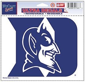 WinCraft Duke Blue Devils Removable 5x6 Car Decal