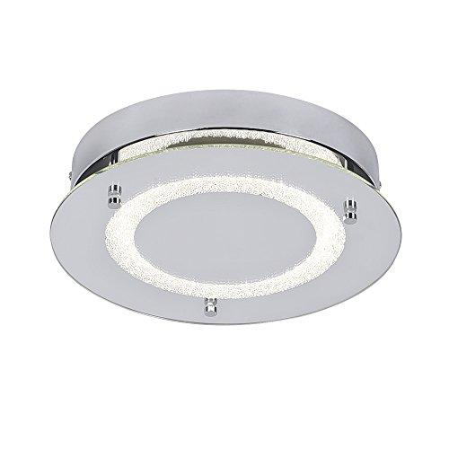 AUDIAN Flush Mount Ceiling Light Ceiling Lamp Dimmable LED Modern Roundness Glass Shade K9 Crystal Bead Ceiling Flush Mount Polished Chrome Light for Porch Balcony Children's Room Bathroom W11H2.6''