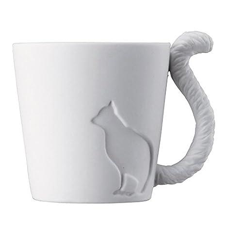 Taza Porta Vela de cerámica fina gato. Tazas Té Velas Velas Porcelana Gatos: Amazon.es: Hogar