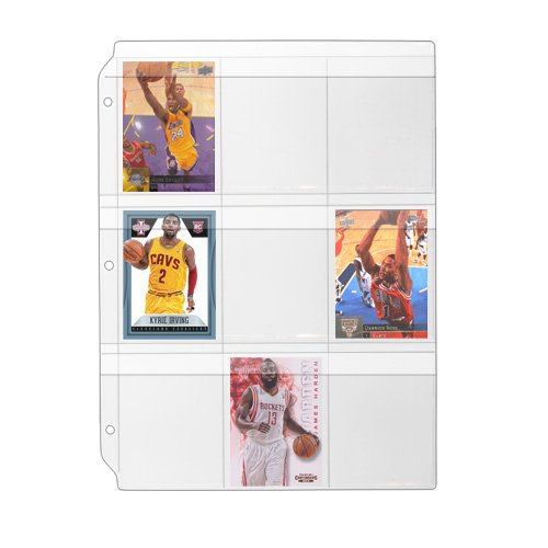 StoreSMART - Binder Page for Samples, Swatches, Sports / Trading Cards - Top Load, Weatherproof Flap, Clear Plastic - 100-Pack - RMSTWPF-100 by STORE SMART