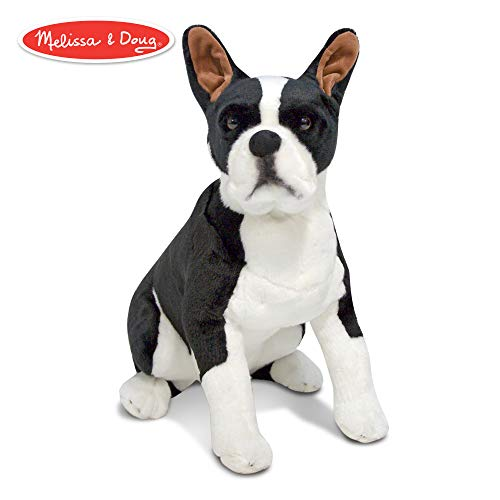Melissa & Doug Giant Boston Terrier - Lifelike Stuffed Animal Dog