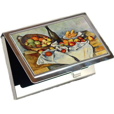 Basket Of Apples Paul Cezanne Business Card Holder ()