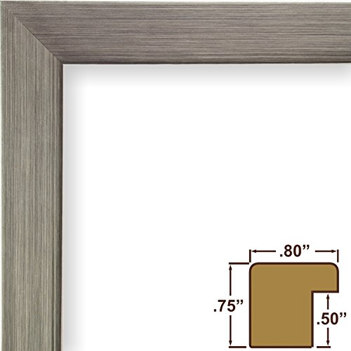 Craig Frames 72966 16 by 24-Inch Picture Frame, Smooth Wrap Finish, 0.8-Inch Wide, Silver Stainless