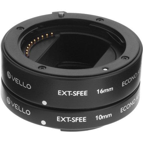 Vello EXT-SFEE Econo Auto Focus Extension Tube Set for Sony E-Mount Lenses by Vello