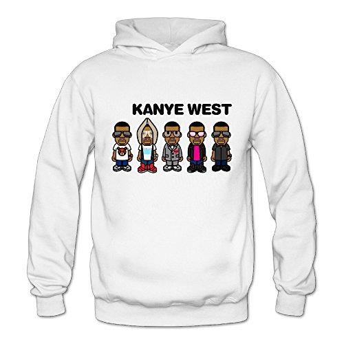 MYKKI Kanye Omari West Women's Cool Fleece Sweatshirt XXL White