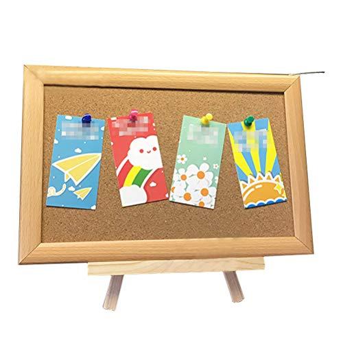 Lzttyee Bulletin Board,Cork Board on The Desktop-Message Memo Picture Board for Home Office School (Oak Yellow)