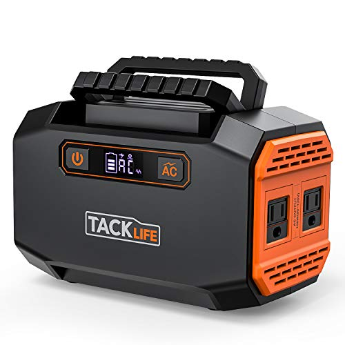 TACKLIFE 250W Portable Power Station 167Wh 45000mAh Battery Generator with Dual 110V AC Outlet 3 DC Ports 2 USB Outputs for Camping Outdoors Emergency CPAP