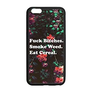 Special 5.5inches Fuck Bitches, Smoke Weed and Eat Cereal Pattern iPhone 6 Plus TPU(Laser Technology) Durable Back Case Shell - For iPhone 6 Plus