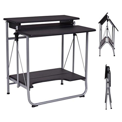 Folding Computer Laptop Desk Workstation Table Office Home Furniture Black New by onestops8