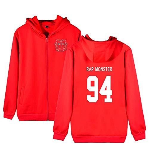 Sportive Cashmere Felpe Bts Cappuccio Comode Hoodie Per Red4 Con Outwear Zip Plus Cappotto Moda E Uomini Allentato Donne Aivosen Unisex 1zgqnvvw